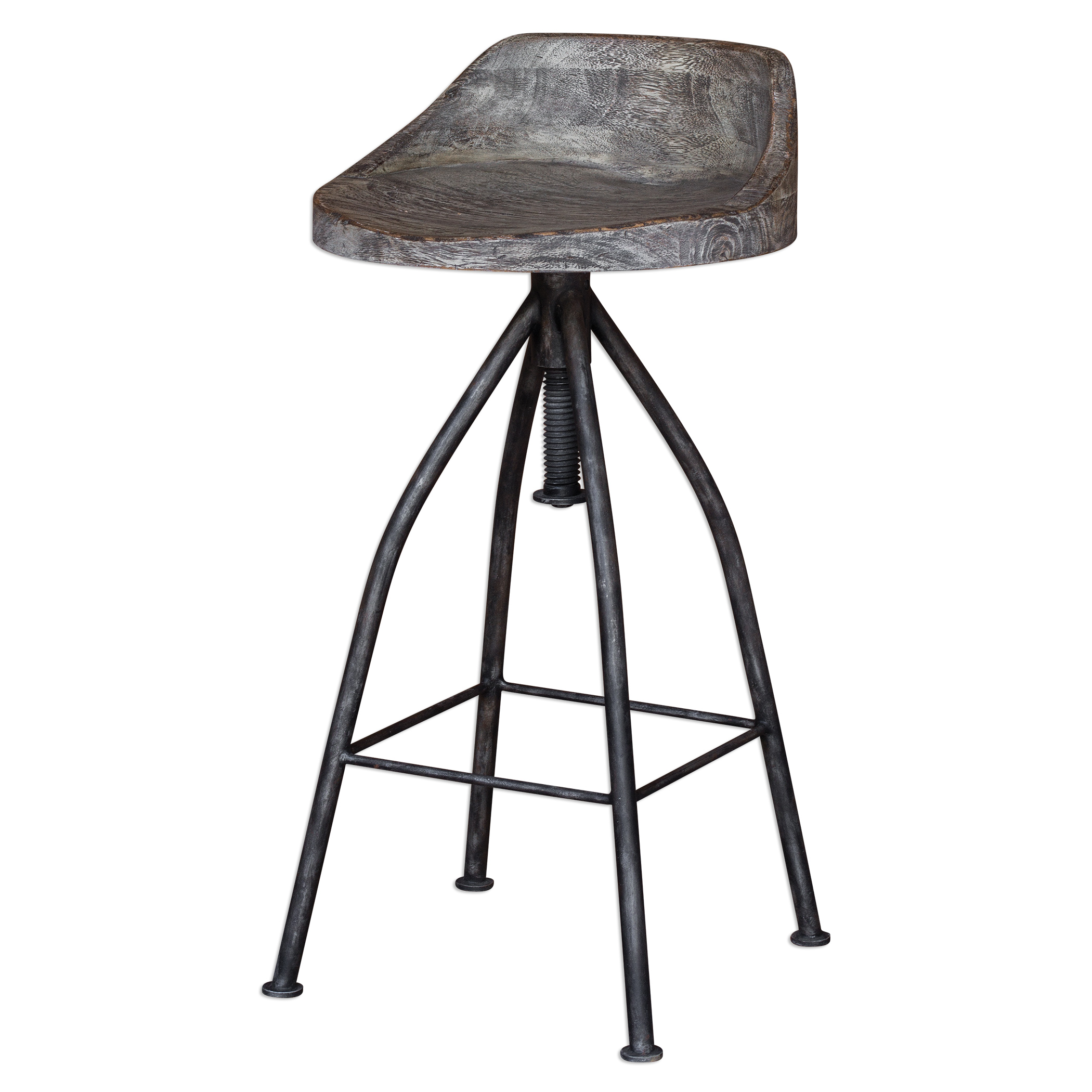 Accent Furniture - Stools Kairu Wooden Bar Stool by Uttermost at Upper Room Home Furnishings