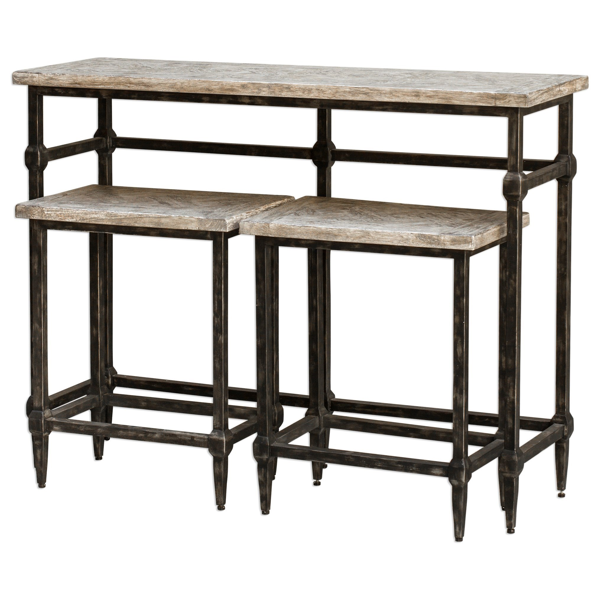 Accent Furniture Tameron Bistro Set S/3 by Uttermost at O'Dunk & O'Bright Furniture