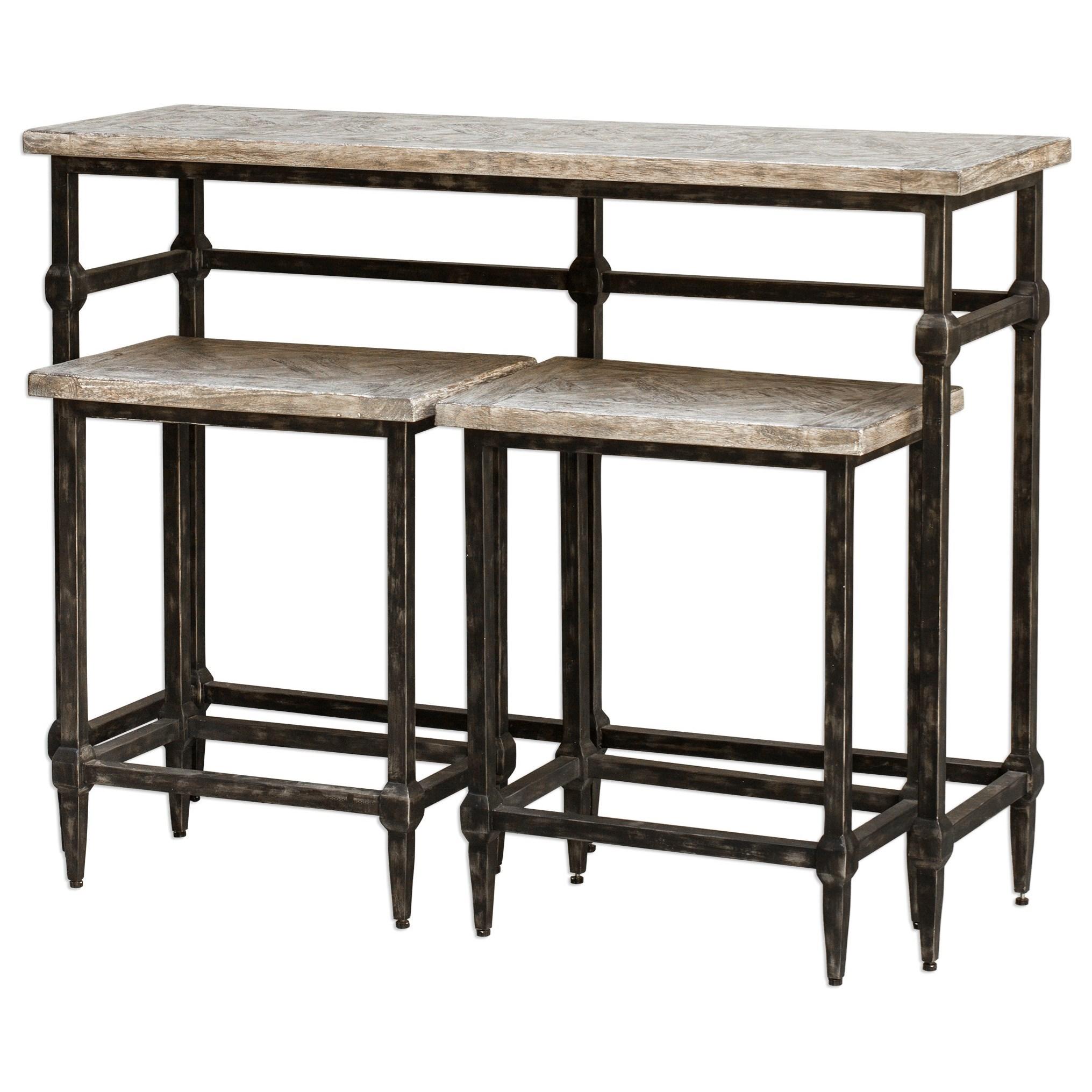 Accent Furniture Tameron Bistro Set S/3 by Uttermost at Mueller Furniture
