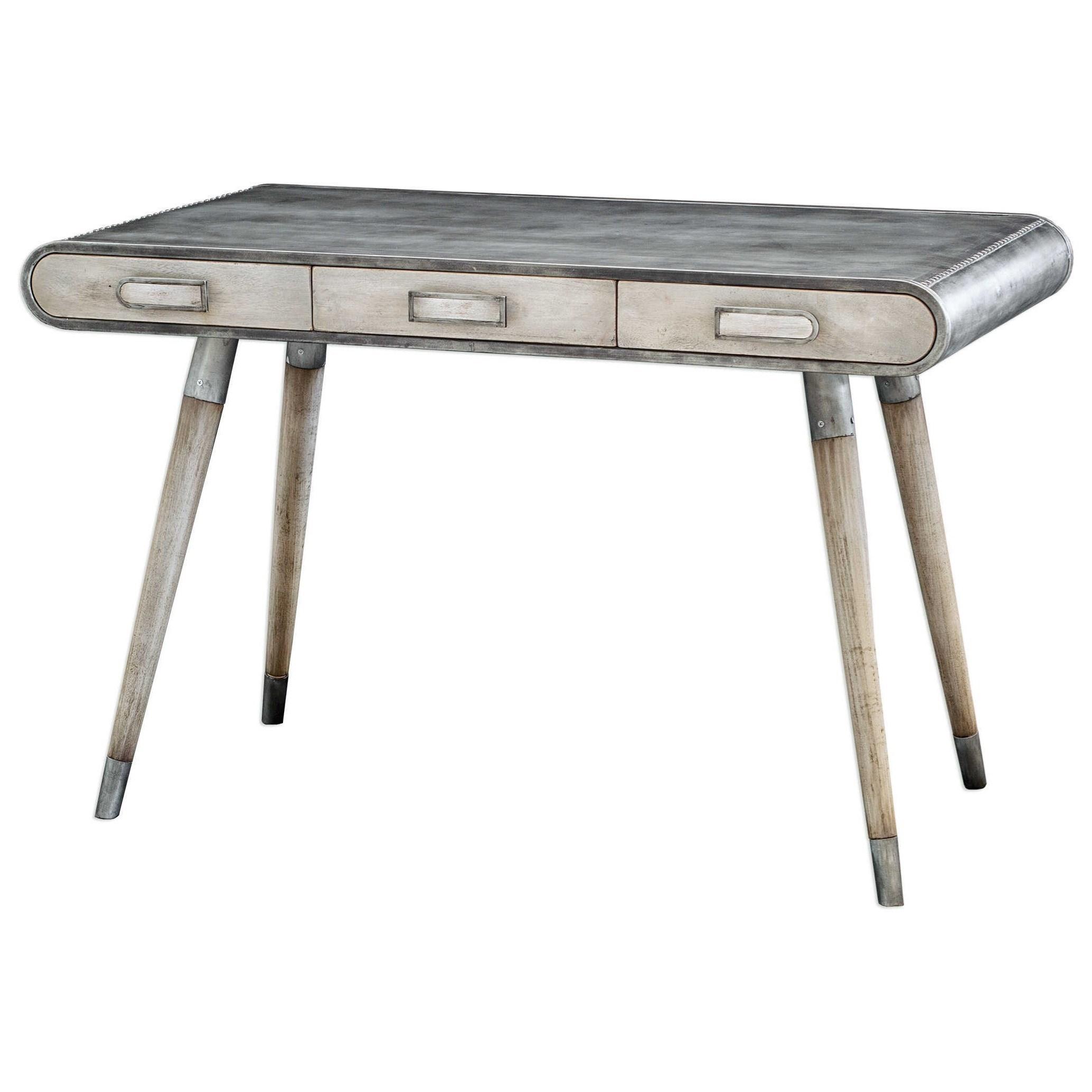 Accent Furniture Locklear Retro Aviator Writing Desk by Uttermost at Michael Alan Furniture & Design