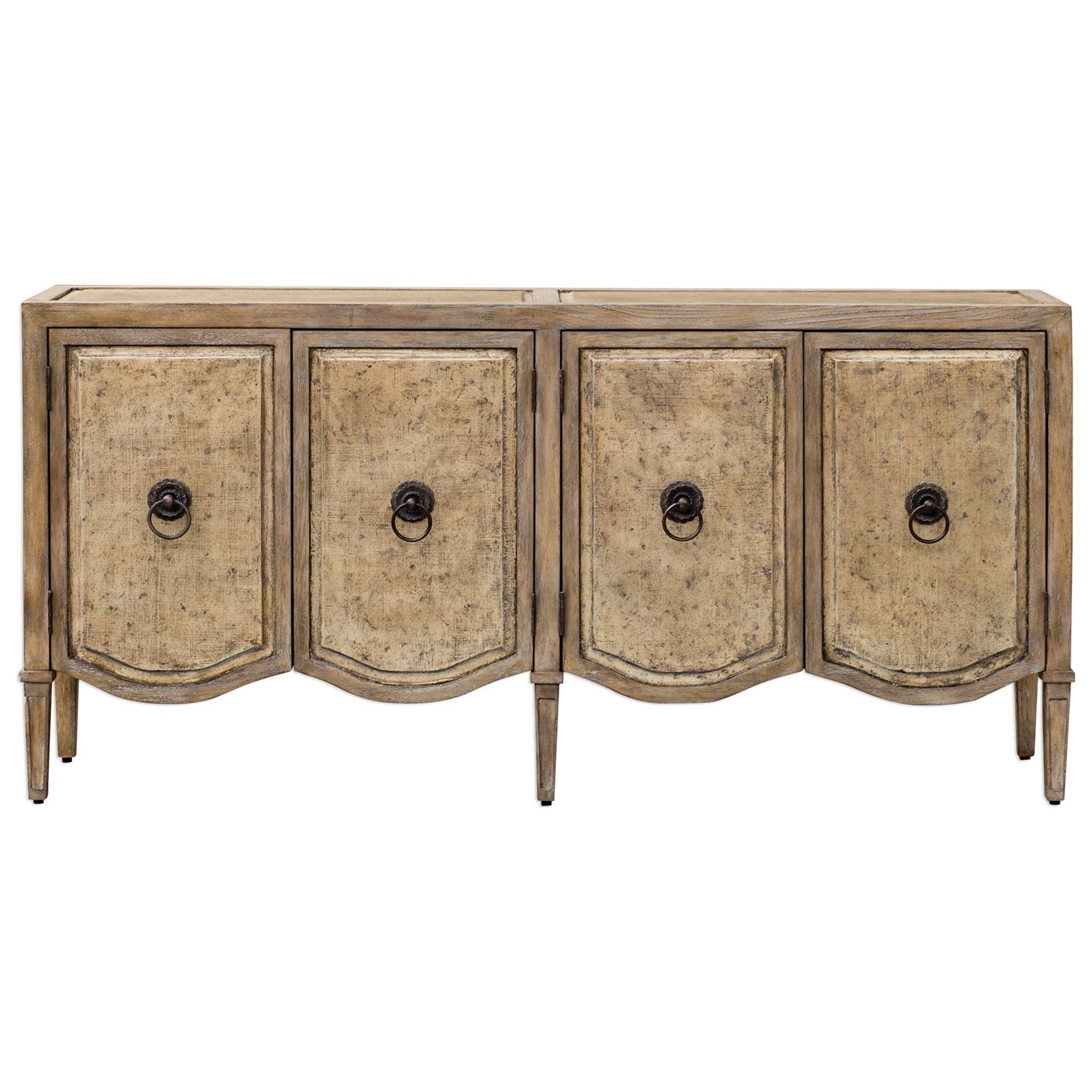 Accent Furniture - Occasional Tables Thina Champagne Console Cabinet by Uttermost at Upper Room Home Furnishings