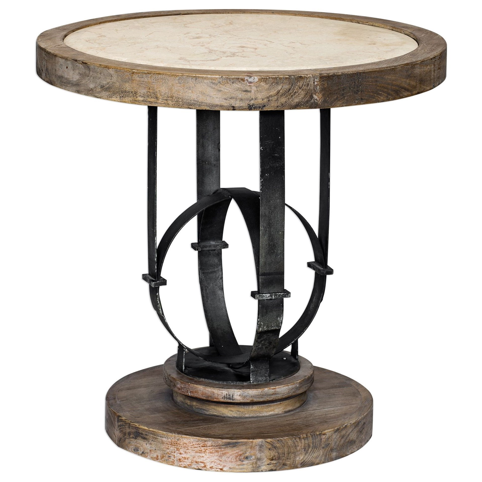 Accent Furniture - Occasional Tables Sydney Light Oak Accent Table by Uttermost at Upper Room Home Furnishings