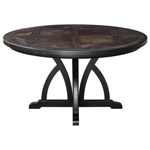 Maiva Round Black Dining Table