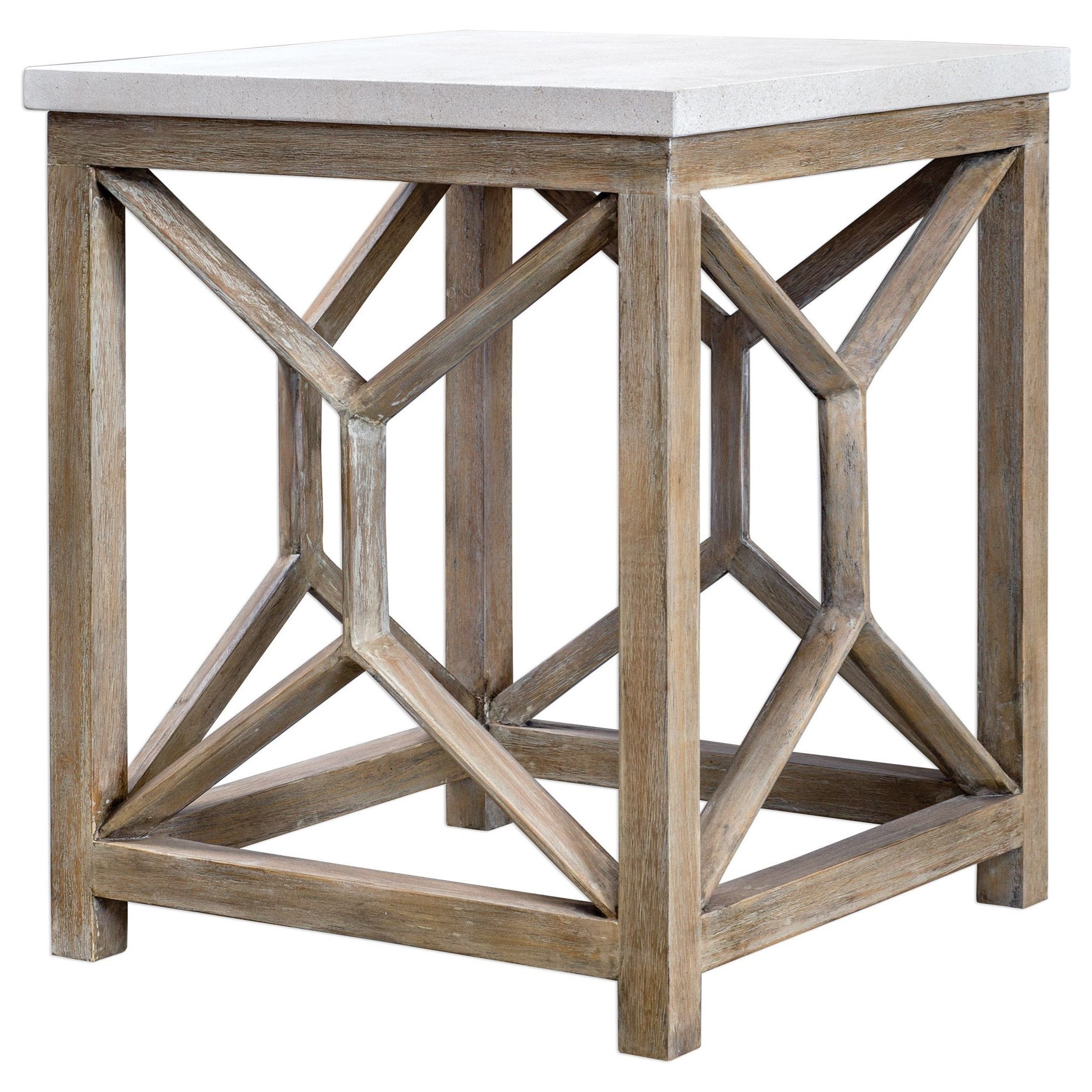 Accent Furniture - Occasional Tables Catali Stone End Table by Uttermost at O'Dunk & O'Bright Furniture