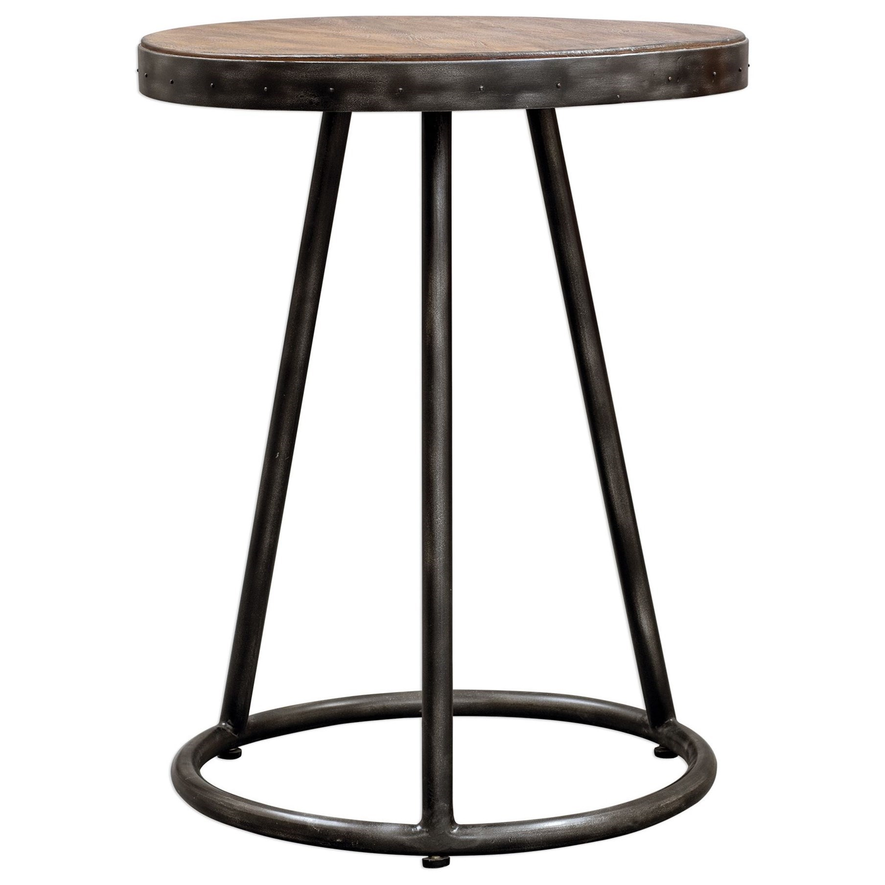 Accent Furniture - Occasional Tables Hector Round Accent Table by Uttermost at Reid's Furniture