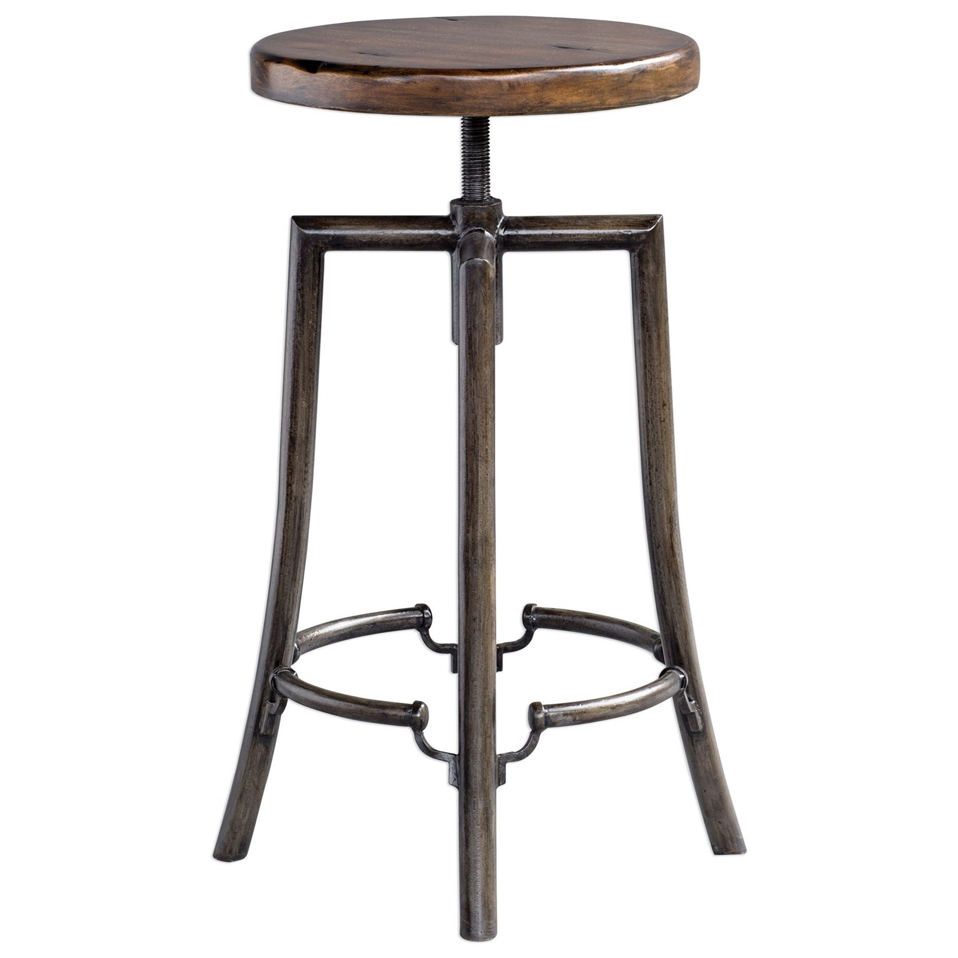 Accent Furniture - Stools Westlyn Industrial Bar Stool by Uttermost at Del Sol Furniture