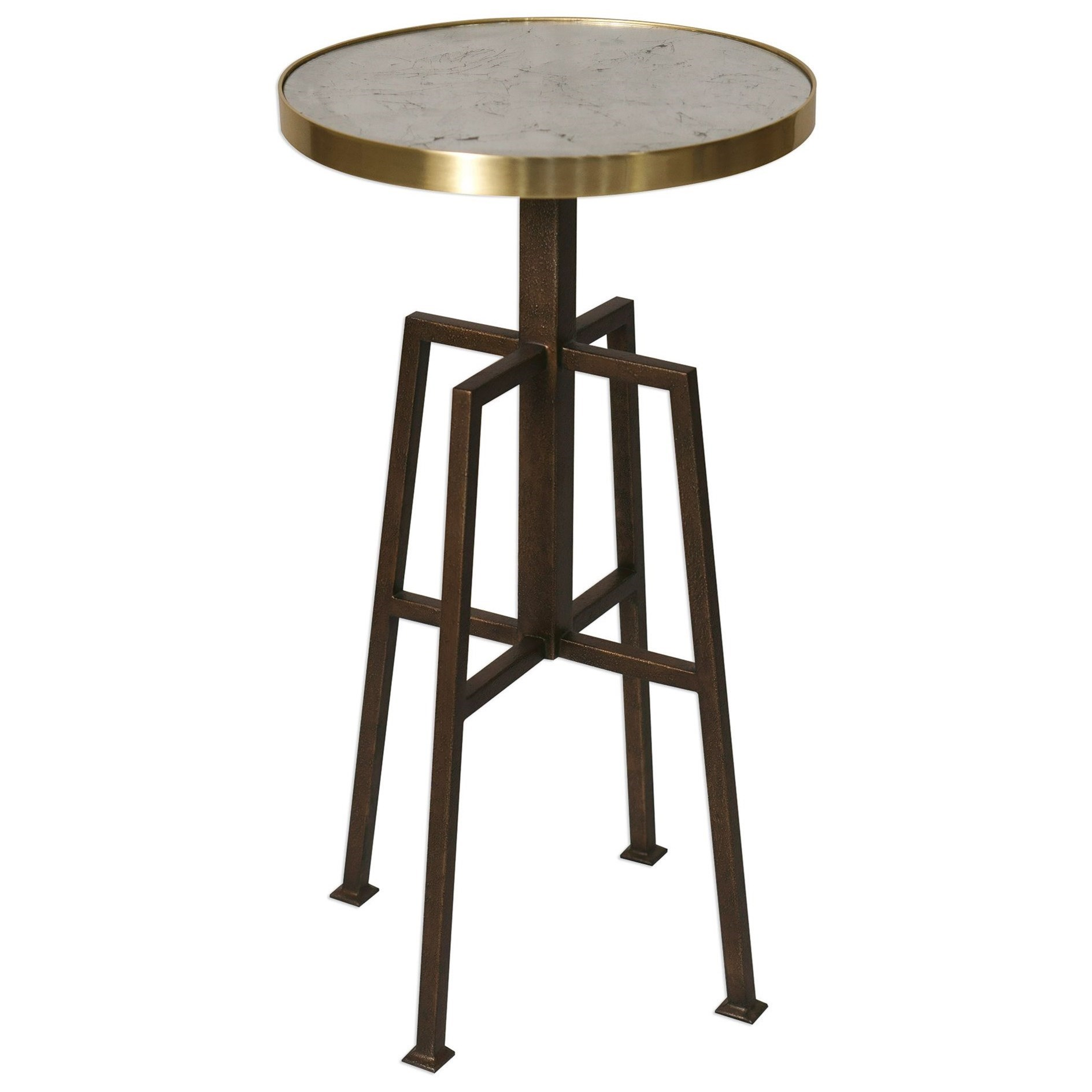 Accent Furniture - Occasional Tables Gisele Round Accent Table by Uttermost at Upper Room Home Furnishings