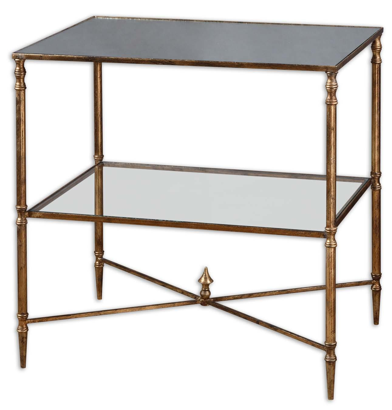 Accent Furniture - Occasional Tables Henzler Lamp Table by Uttermost at Upper Room Home Furnishings