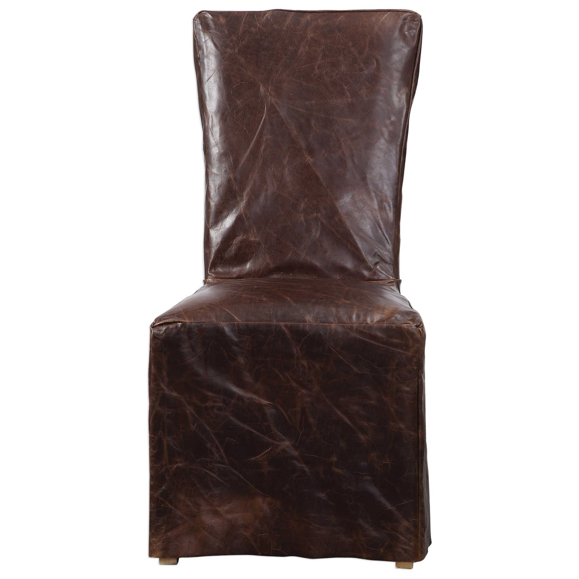Accent Furniture - Accent Chairs Oaklyn Armless Chair by Uttermost at Del Sol Furniture