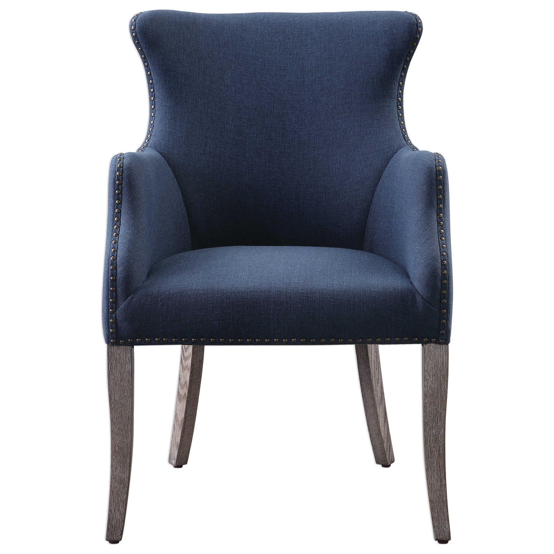 Accent Furniture - Accent Chairs Yareena Blue Wing Chair by Uttermost at Furniture Superstore - Rochester, MN