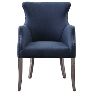 Yareena Blue Wing Chair