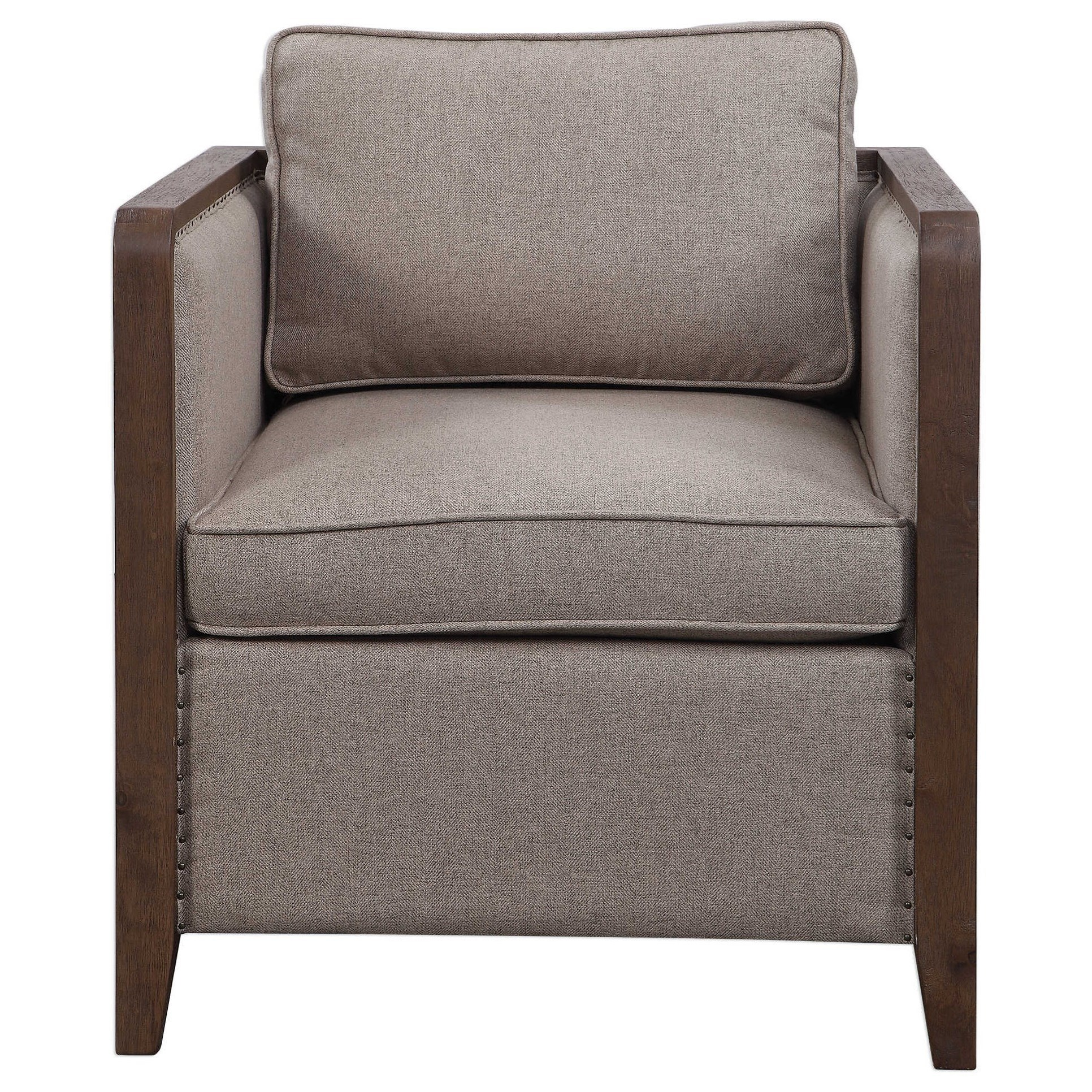 Accent Furniture - Accent Chairs Ennis Contemporary Accent Chair by Uttermost at Furniture Superstore - Rochester, MN