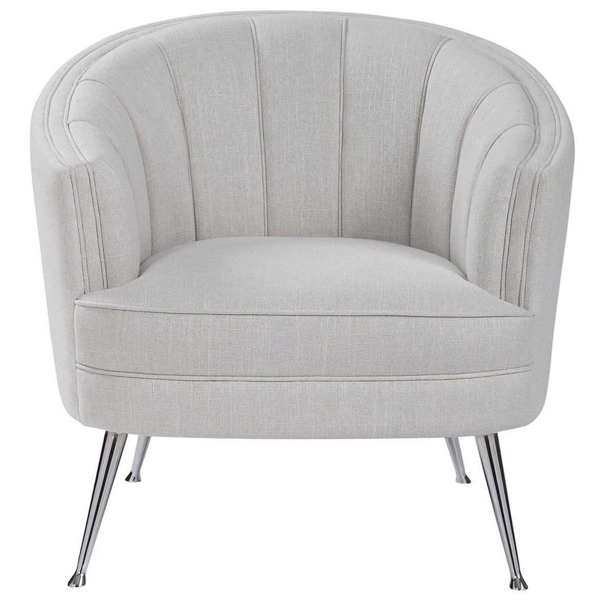 Accent Furniture - Accent Chairs Janie Mid-Century Accent Chair by Uttermost at Factory Direct Furniture