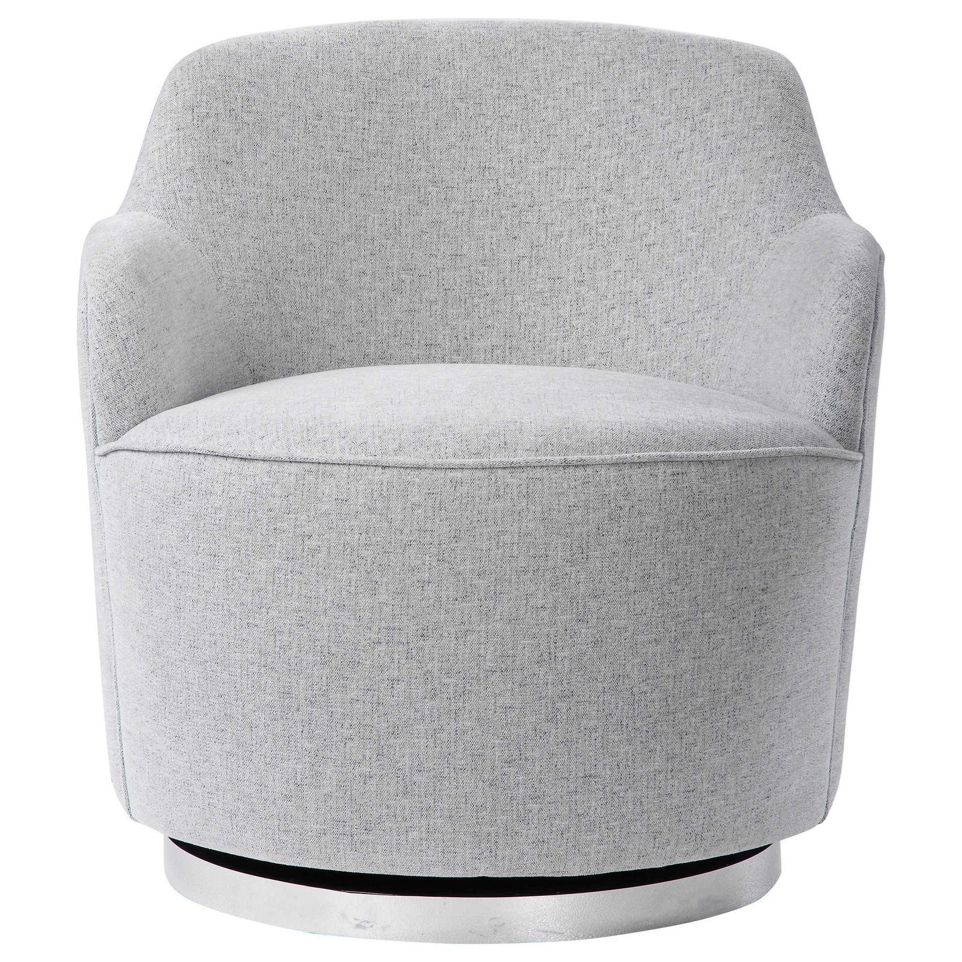 Accent Furniture - Accent Chairs Hobart Casual Swivel Chair by Uttermost at Upper Room Home Furnishings