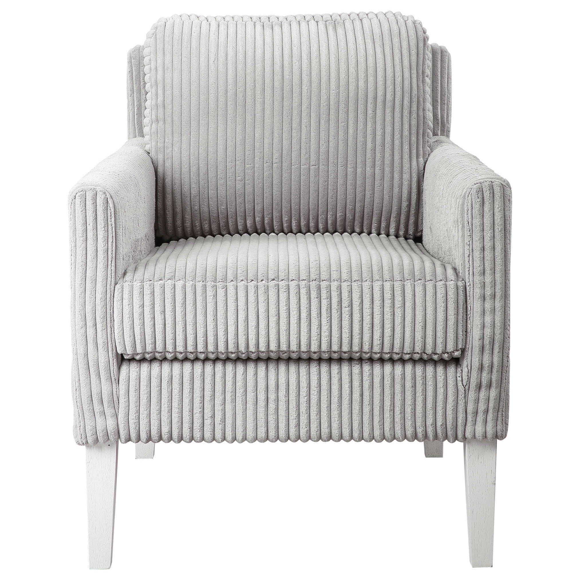 Accent Furniture - Accent Chairs Cavalla Gray Accent Chair by Uttermost at O'Dunk & O'Bright Furniture