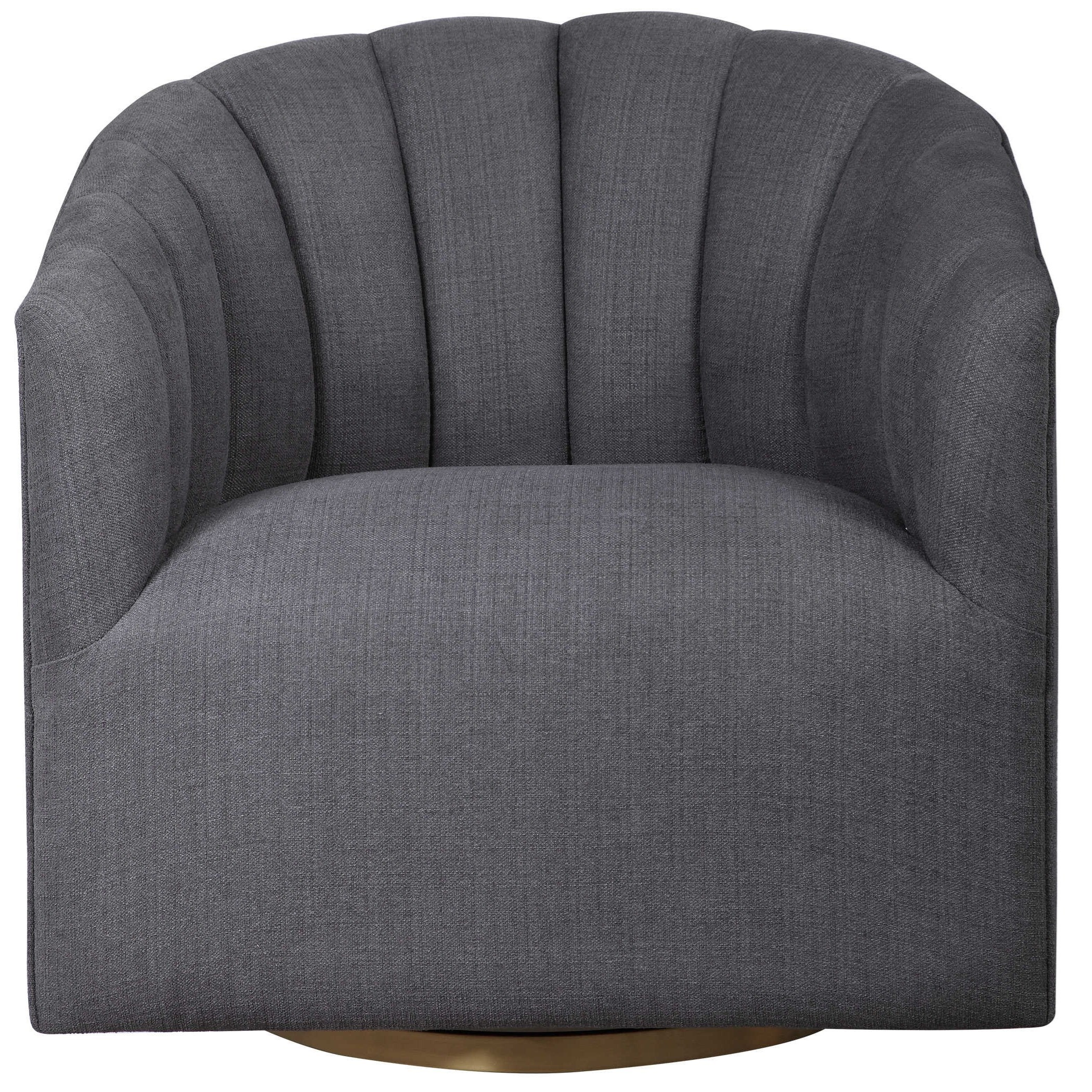 Accent Furniture - Accent Chairs Cuthbert Modern Swivel Chair by Uttermost at Mueller Furniture