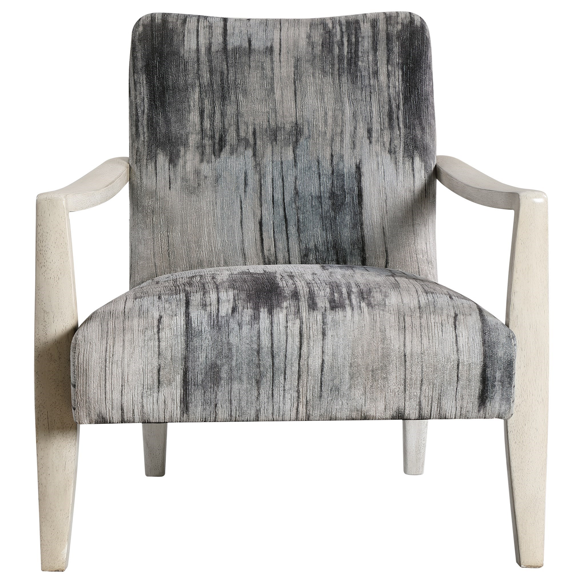 Accent Furniture - Accent Chairs Watercolor Gray Chenille Accent Chair by Uttermost at Miller Waldrop Furniture and Decor
