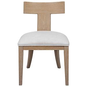 Idris Armless Chair Natural