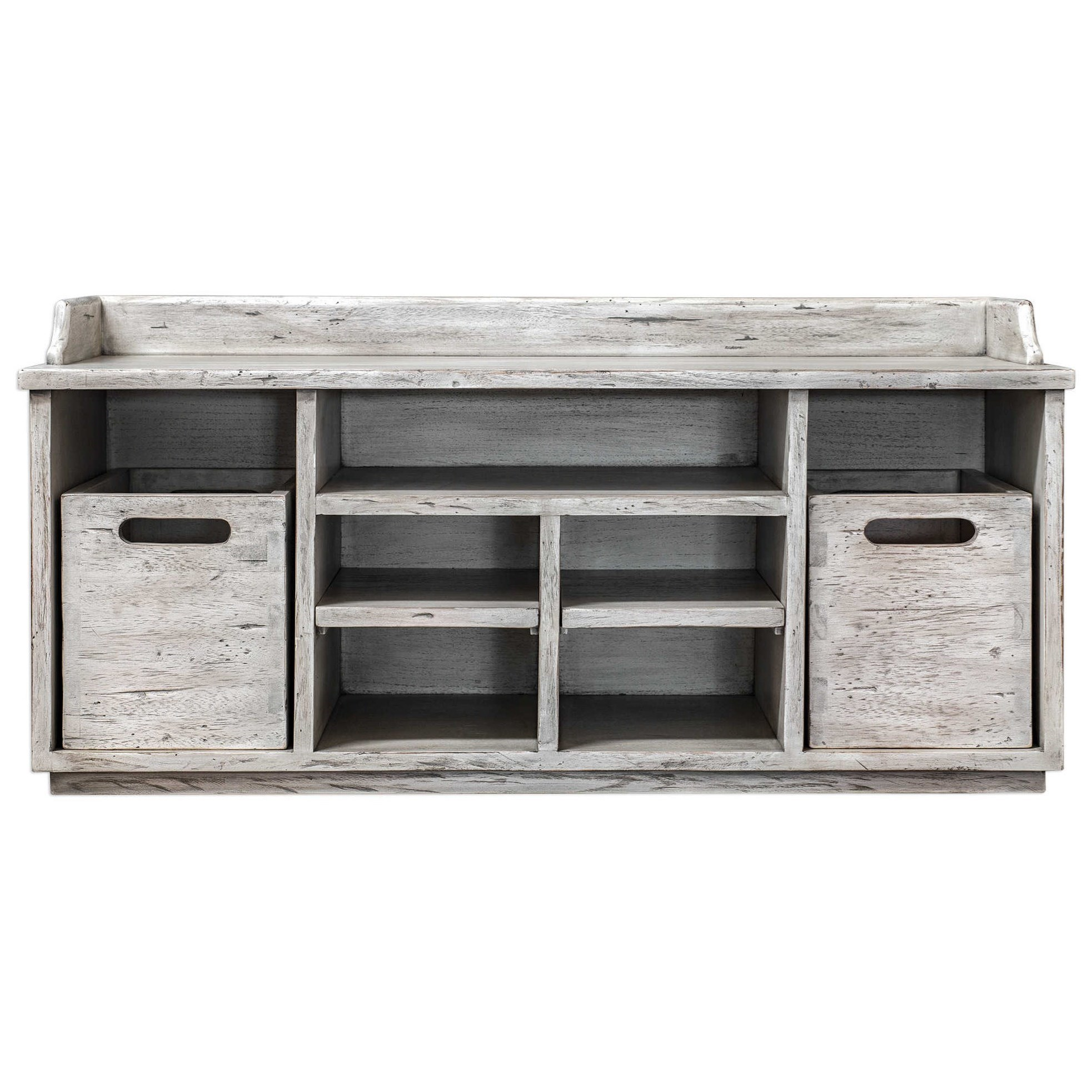 Accent Furniture - Benches Ardusin White Hobby Bench by Uttermost at O'Dunk & O'Bright Furniture