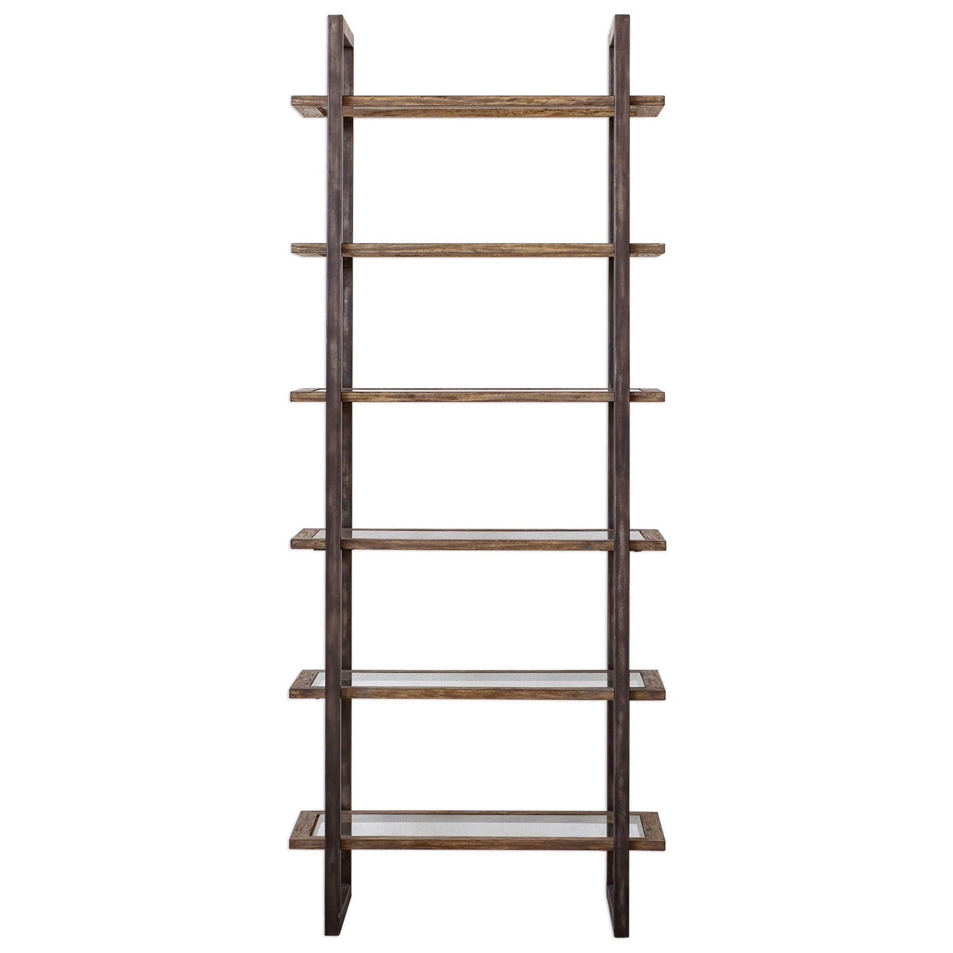 Accent Furniture - Bookcases Olwyn Industrial Etagere by Uttermost at Factory Direct Furniture