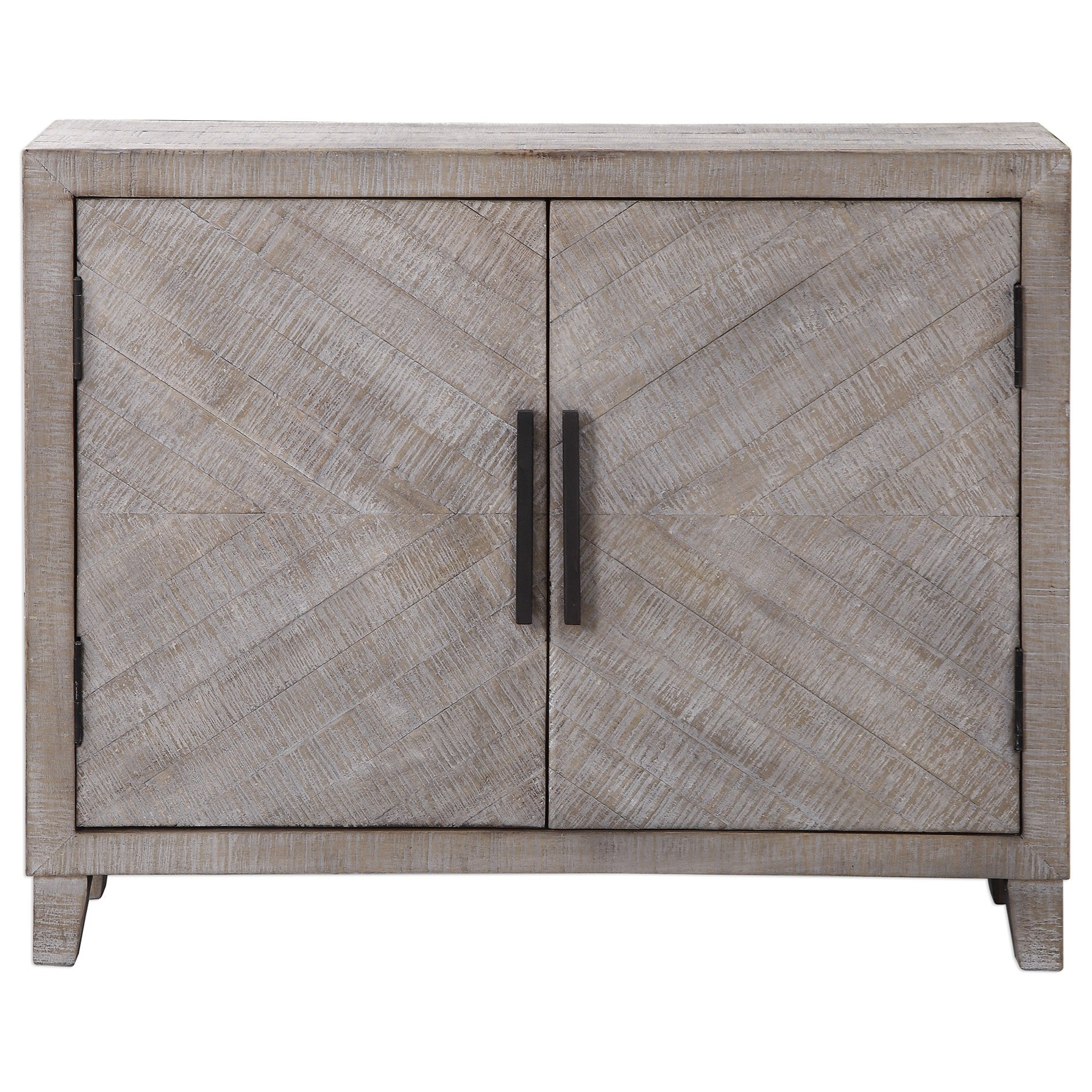 Accent Furniture - Chests Adalind White Washed Accent Cabine by Uttermost at Upper Room Home Furnishings