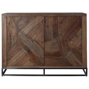 Evros Reclaimed Wood 2-Door Cabinet