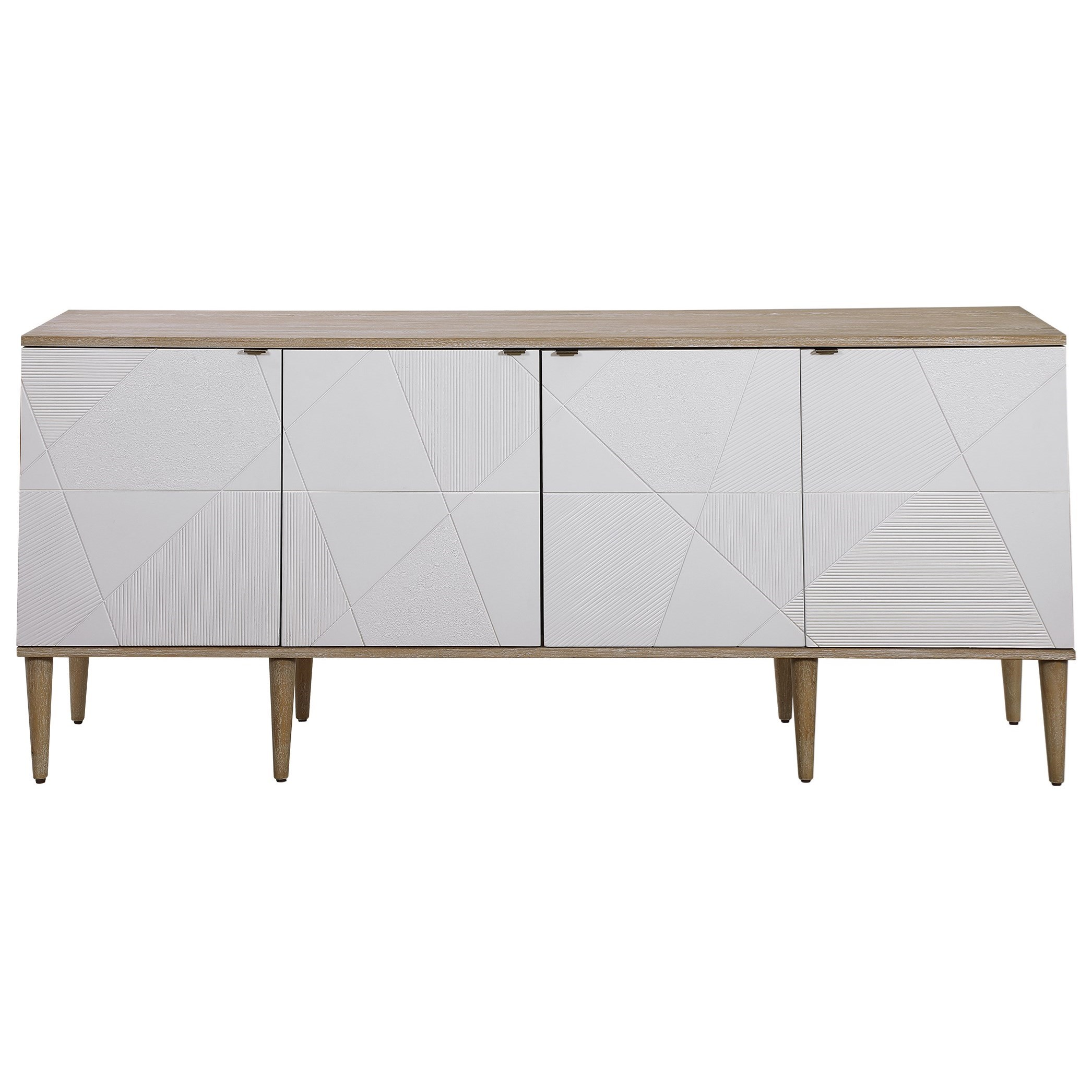 Accent Furniture - Chests Tightrope 4-Door Modern Sideboard Cabinet by Uttermost at Upper Room Home Furnishings