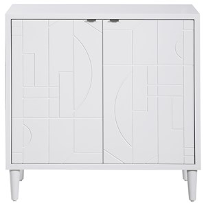 Stockholm White 2-Door Cabinet