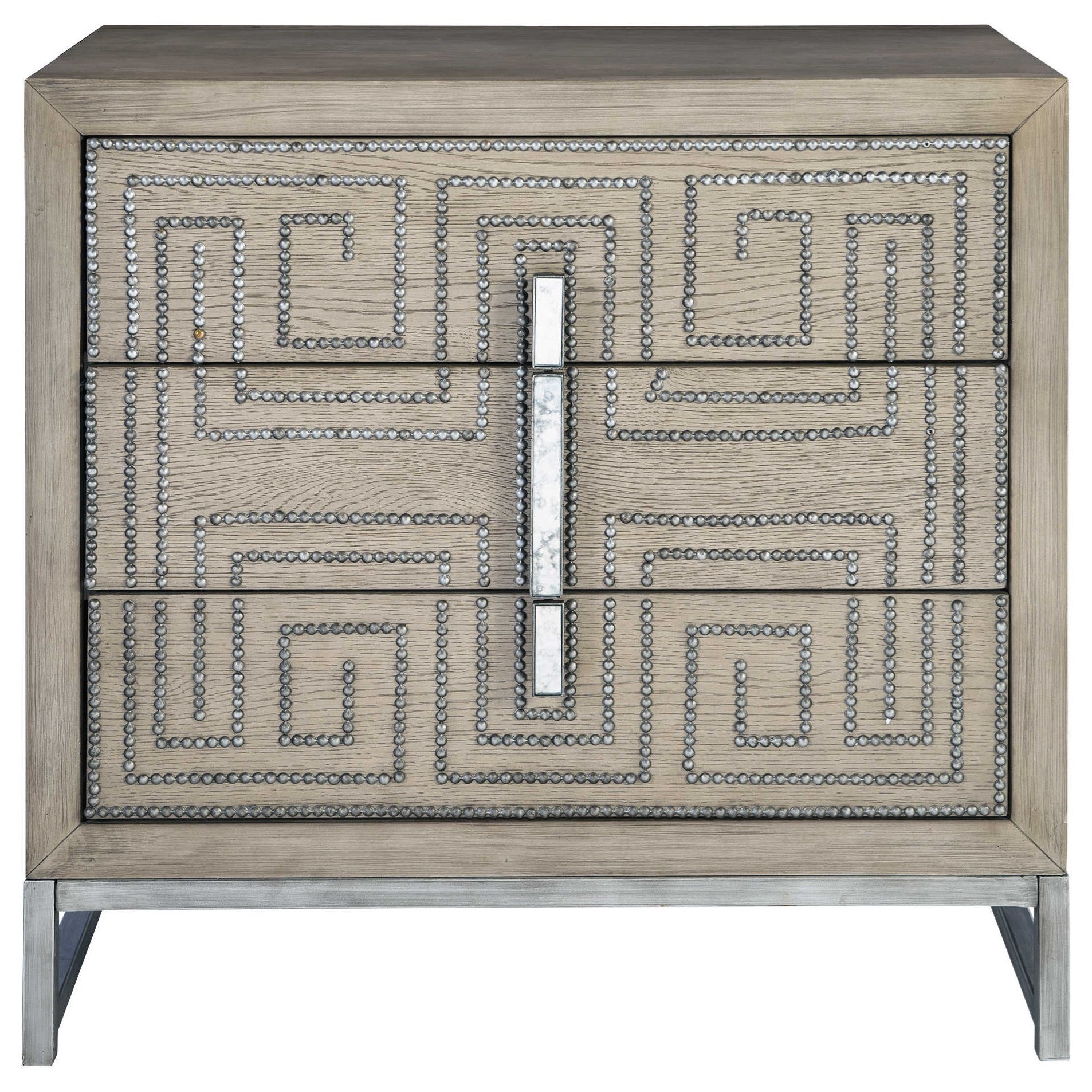 Accent Furniture - Chests Devya Gray Oak Accent Chest by Uttermost at Reid's Furniture