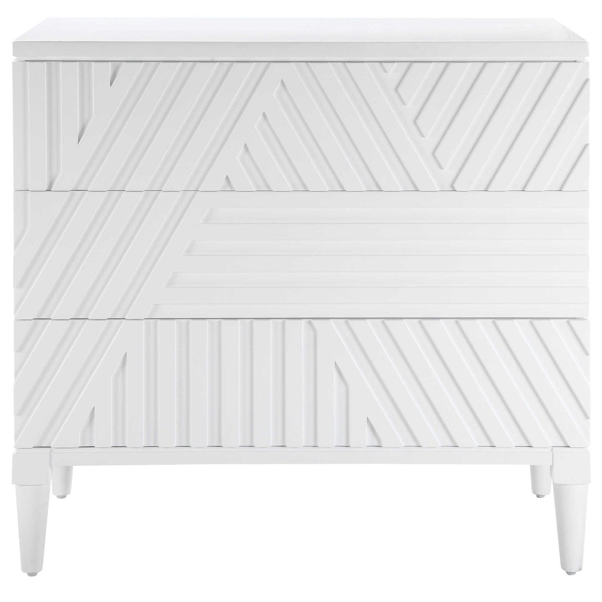 Accent Furniture - Chests Colby White Drawer Chest by Uttermost at Factory Direct Furniture