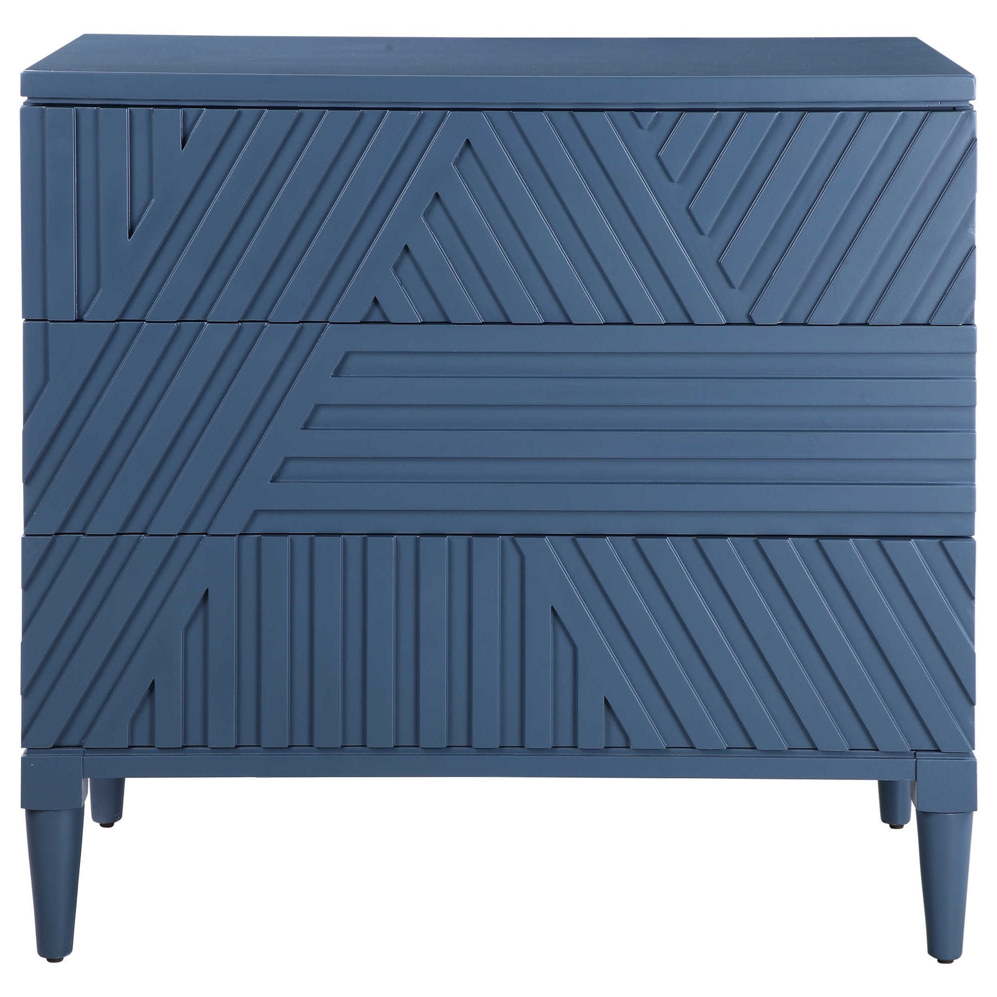 Accent Furniture - Chests Colby Blue Drawer Chest by Uttermost at Mueller Furniture