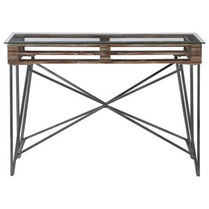 Ryne Industrial Console Table