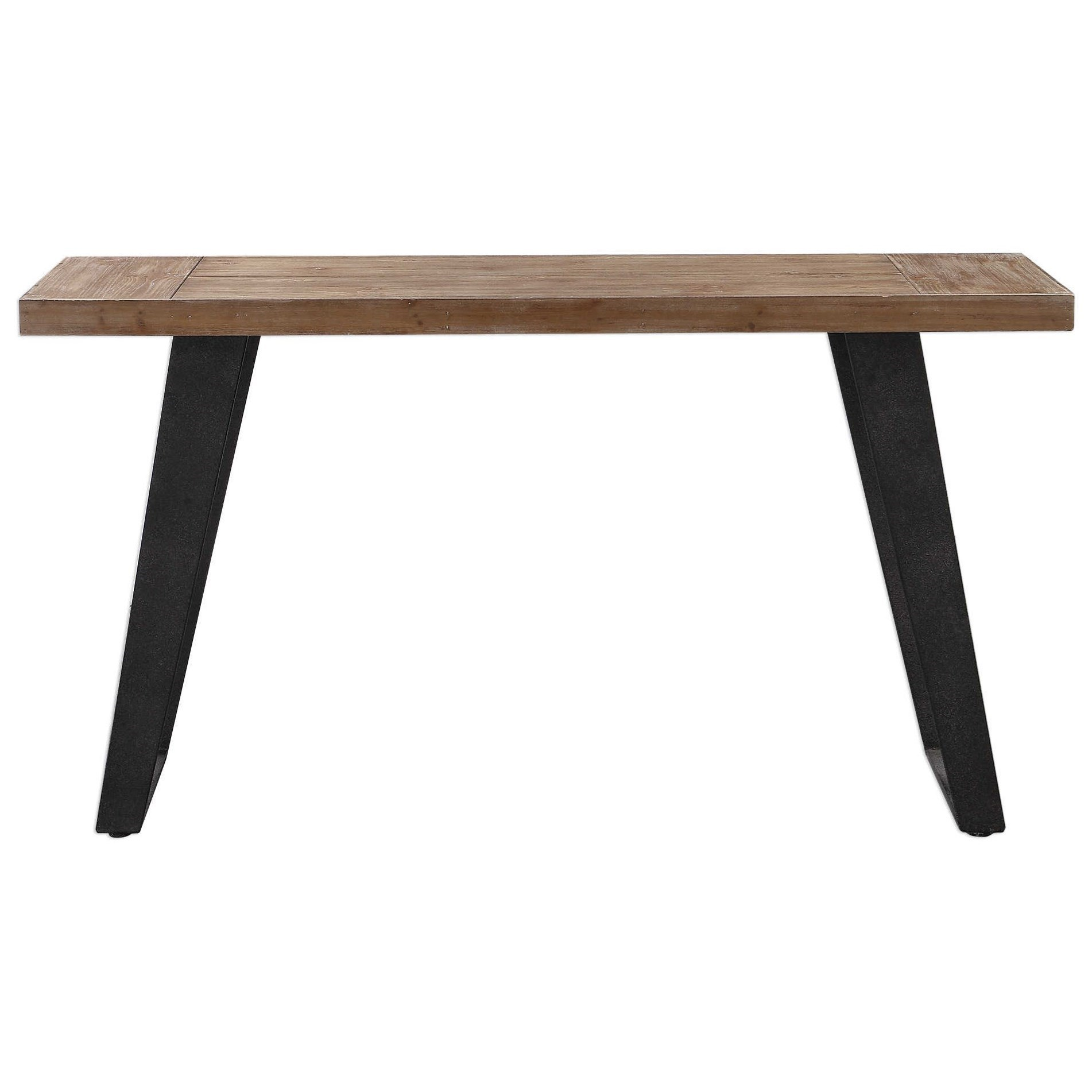 Accent Furniture - Occasional Tables Freddy Weathered Console Table by Uttermost at Upper Room Home Furnishings