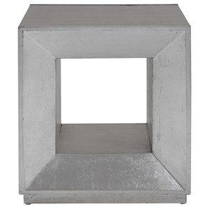 Flair Silver Cube Table