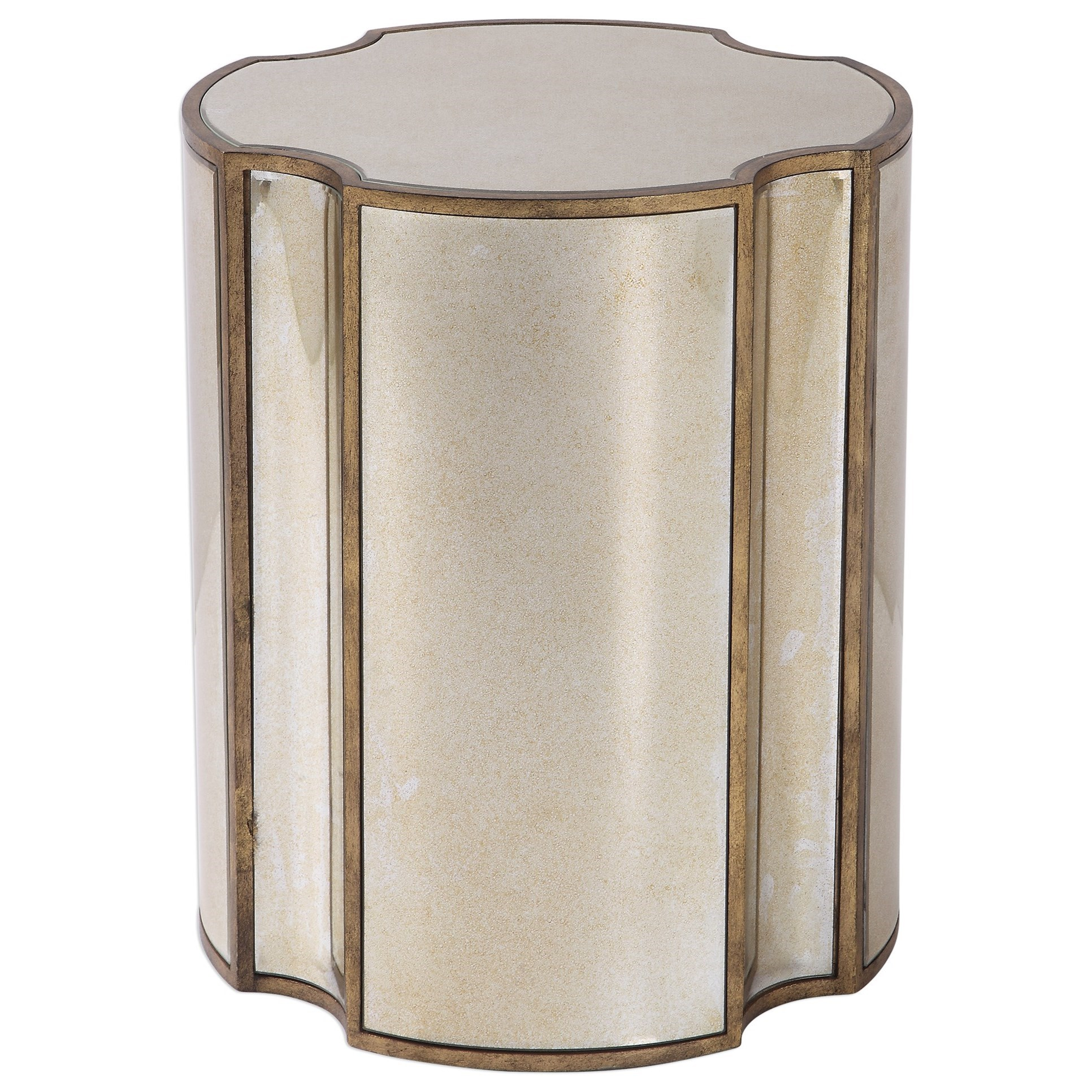 Accent Furniture - Occasional Tables Harlow Mirrored Accent Table by Uttermost at Suburban Furniture