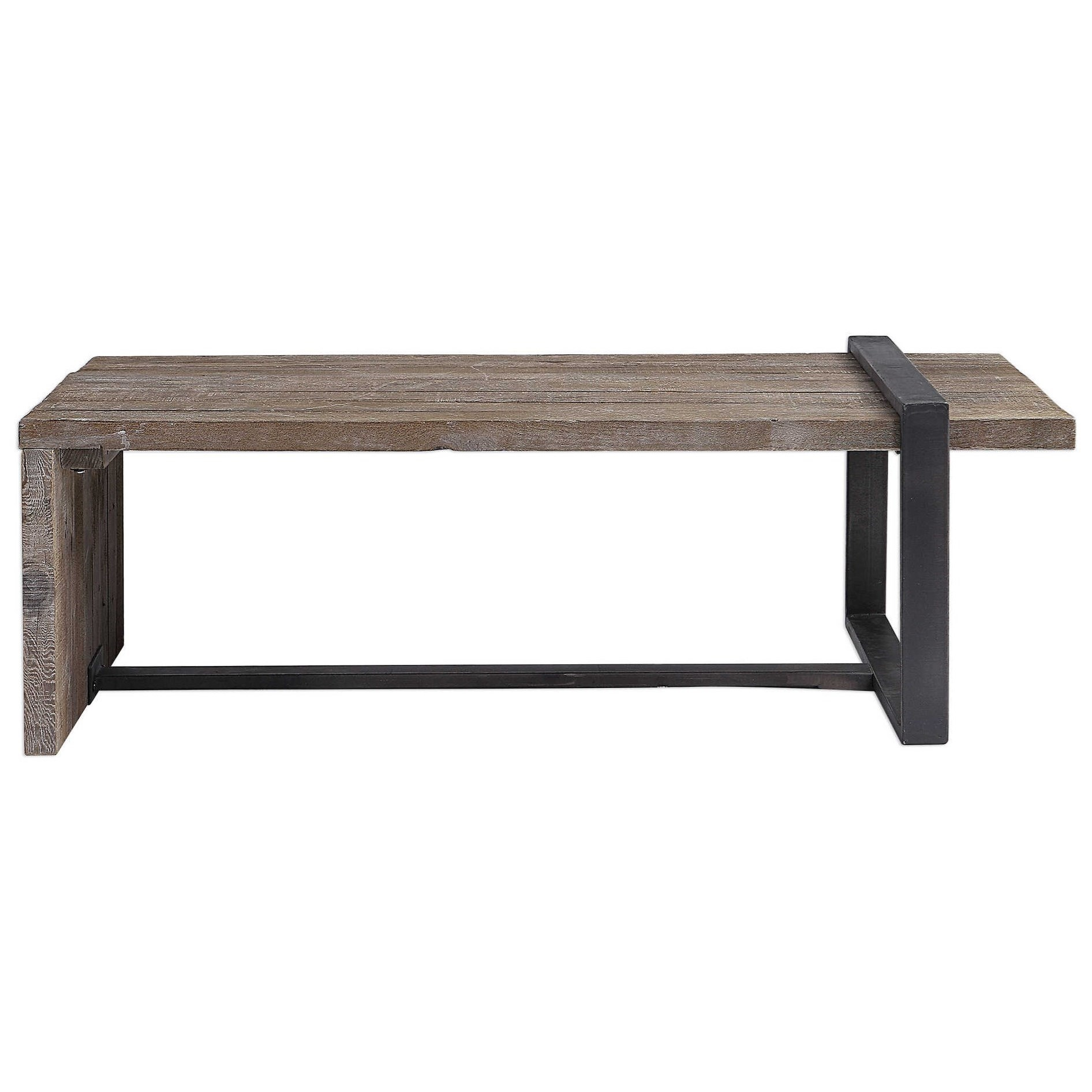 Accent Furniture - Occasional Tables Genero Weathered Coffee Table by Uttermost at Factory Direct Furniture