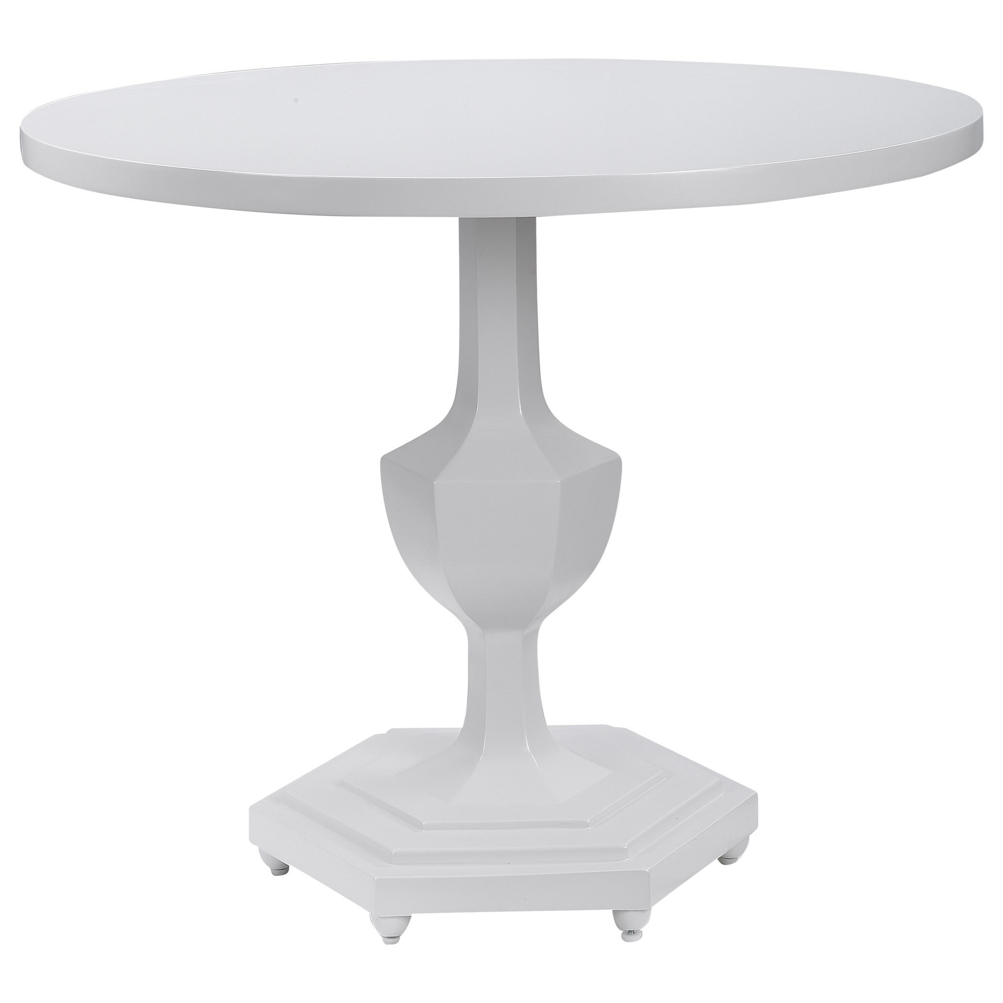 Accent Furniture - Occasional Tables Kabarda White Foyer Table by Uttermost at Del Sol Furniture