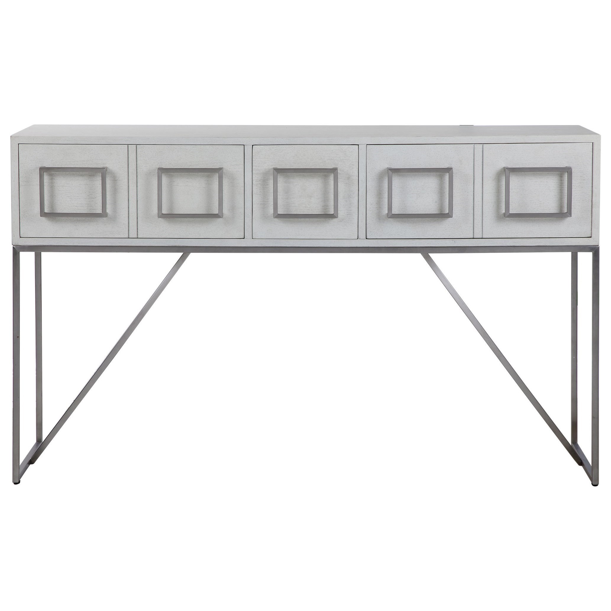 Accent Furniture - Occasional Tables Abaya White Console Table by Uttermost at Mueller Furniture
