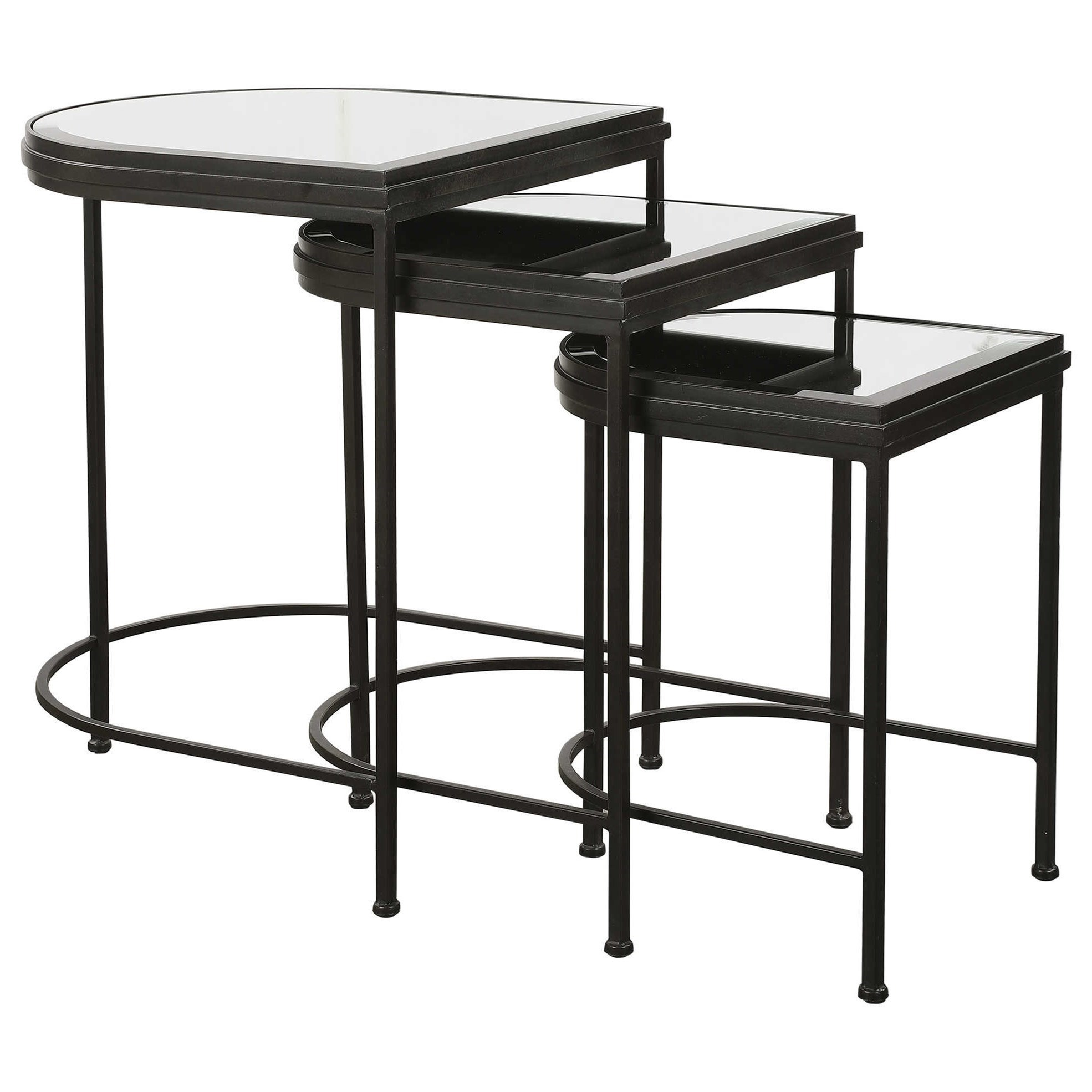 Accent Furniture - Occasional Tables Black Nesting Tables, S/3 by Uttermost at Upper Room Home Furnishings