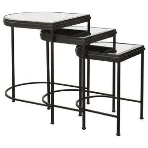 Black Nesting Tables, S/3
