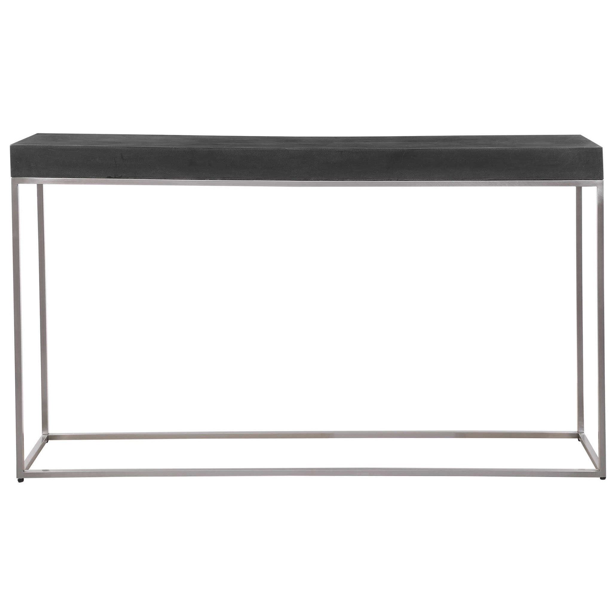 Accent Furniture - Occasional Tables Black Concrete Console Table by Uttermost at Upper Room Home Furnishings