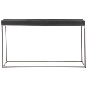 Black Concrete Console Table