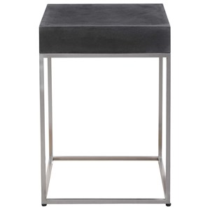 Black Concrete Accent Table