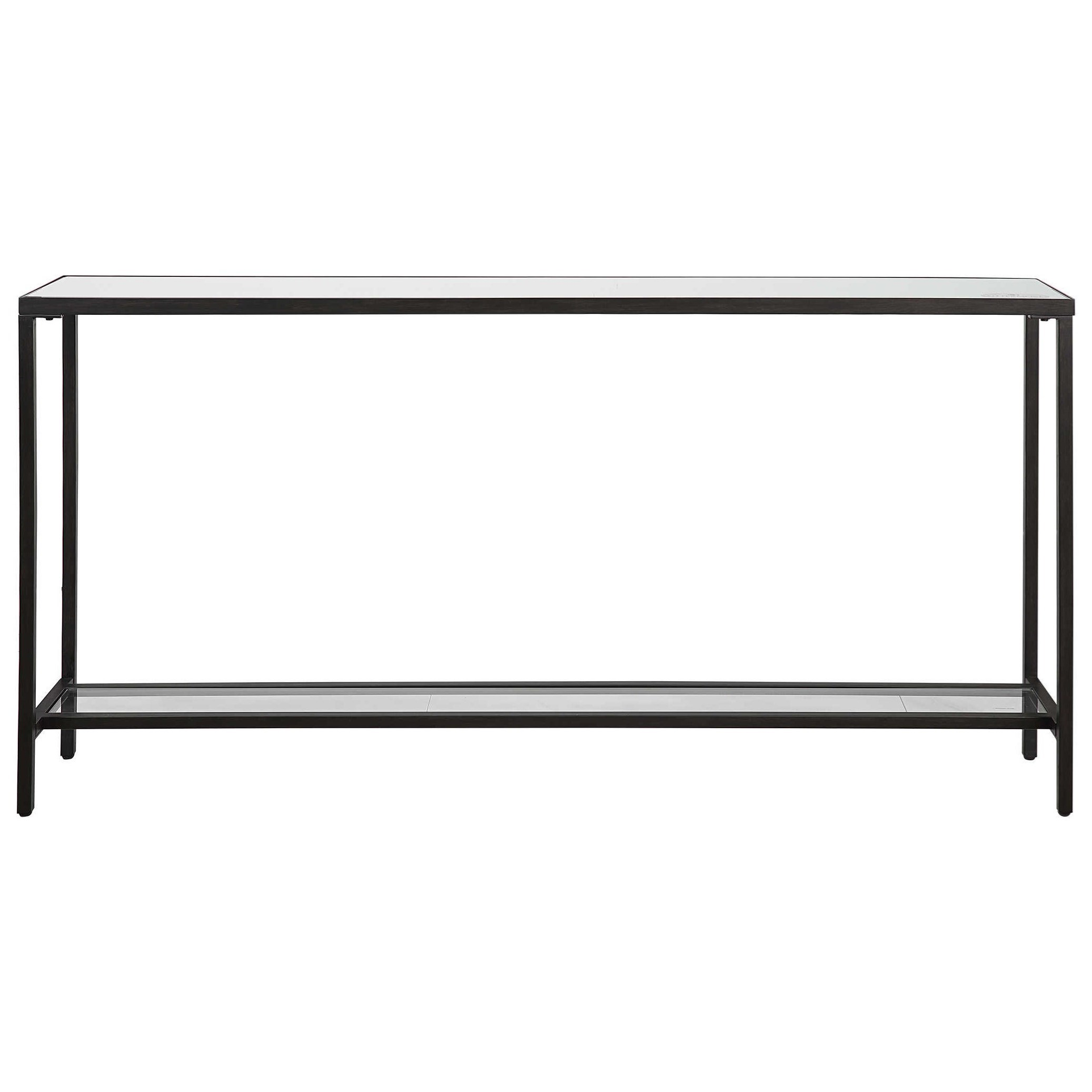 Accent Furniture - Occasional Tables Hayley Black Console Table by Uttermost at Goffena Furniture & Mattress Center