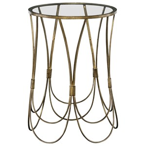 Kalindra Gold Accent Table