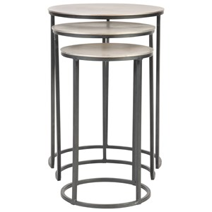 Erik Metal Nesting Tables, S/3