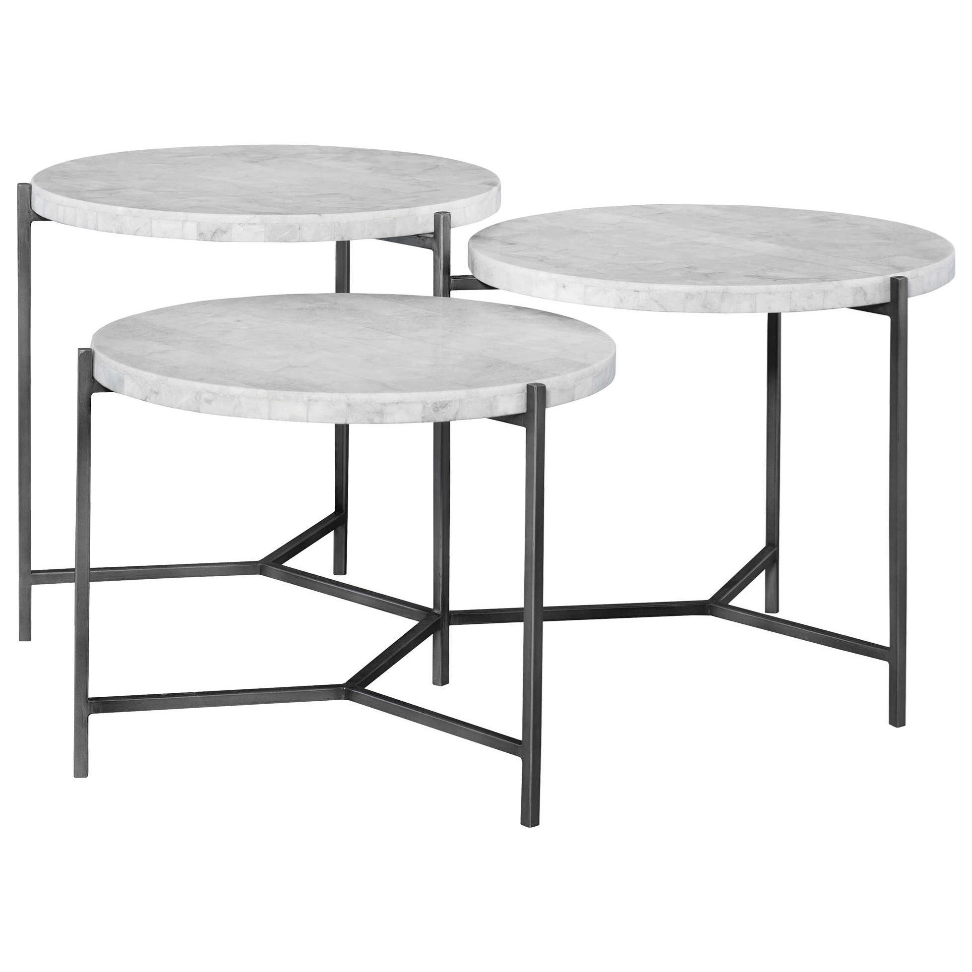 Accent Furniture - Occasional Tables Contarini Tiered Coffee Table by Uttermost at Goffena Furniture & Mattress Center