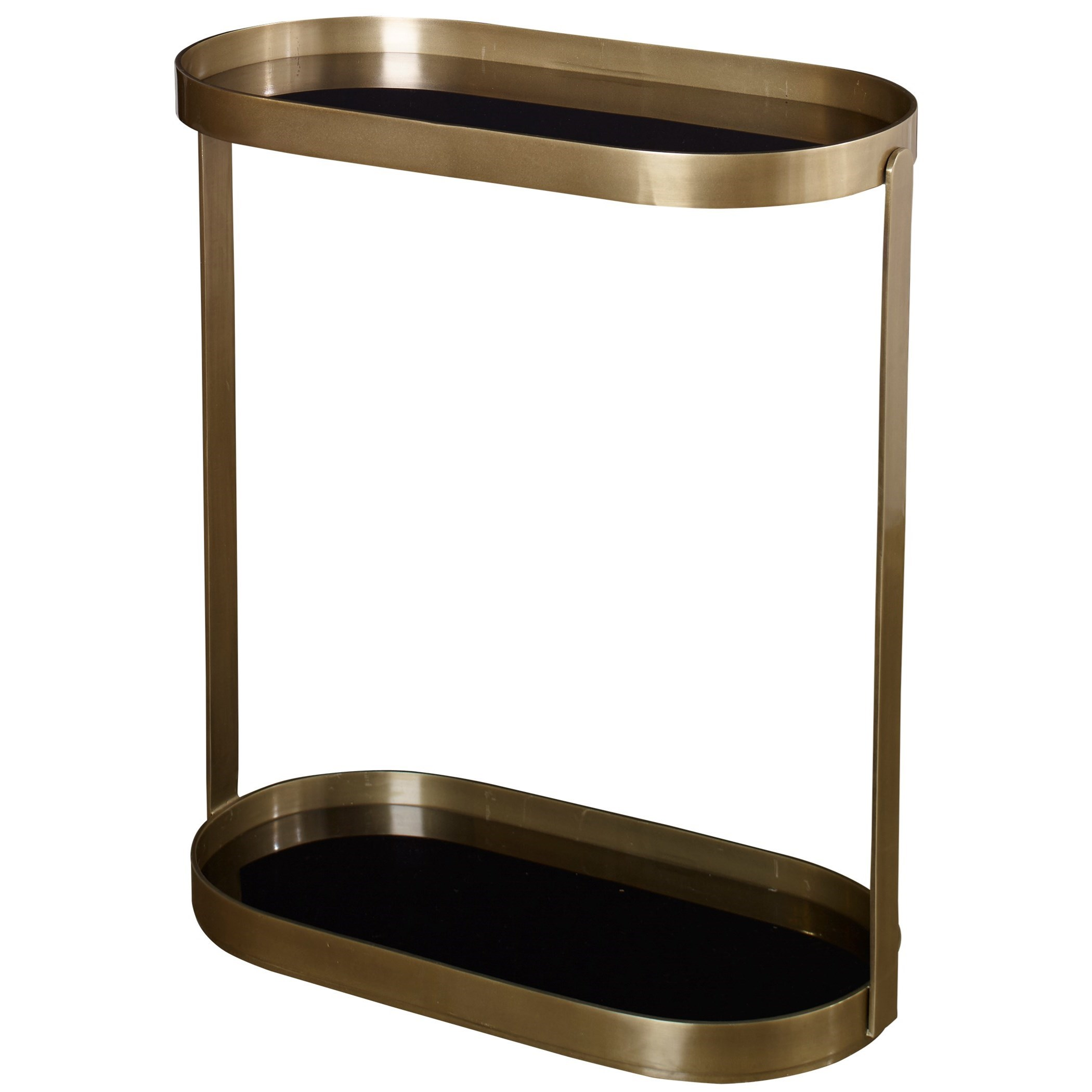 Accent Furniture - Occasional Tables Adia Antique Gold Side Table by Uttermost at Dunk & Bright Furniture
