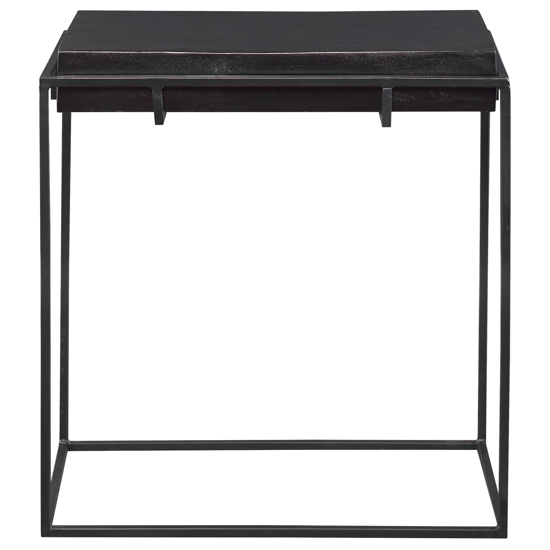 Telone Modern Black Side Table