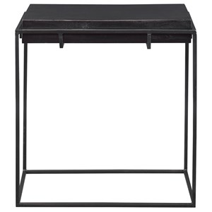 Telone Modern Black Side Table